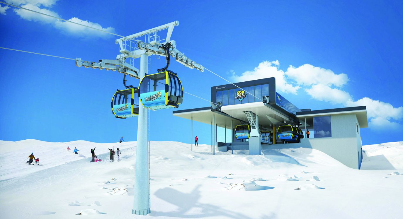 Bergstation Möslbahn Impression  Der neuen Möselbahn vom Schwendberg direkt ins Skigebiet Penken-Mayrhofen!