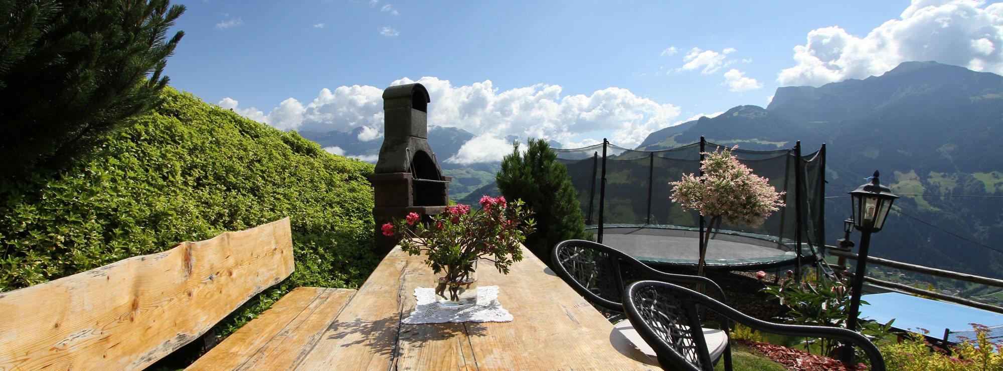 Ferienwohnung mit Grillplatz am Berg Grillen am Berg - Urlaub pur!