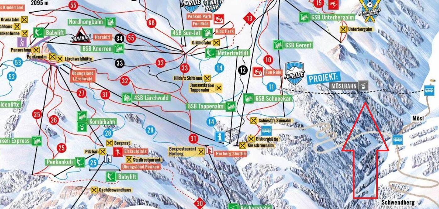 Neuen Möslbahn in Skigebiet Penken! Vom Schwendberg direkt ins Pistenvergnügen!