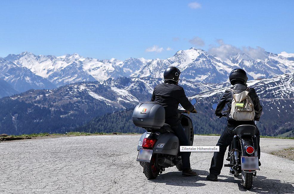 Ferienwohnung mit Garage für Motorradfahrer - für ein perfekte Motorradurlaub im Zillertal Die Zillertaler Höhenstrasse bei uns